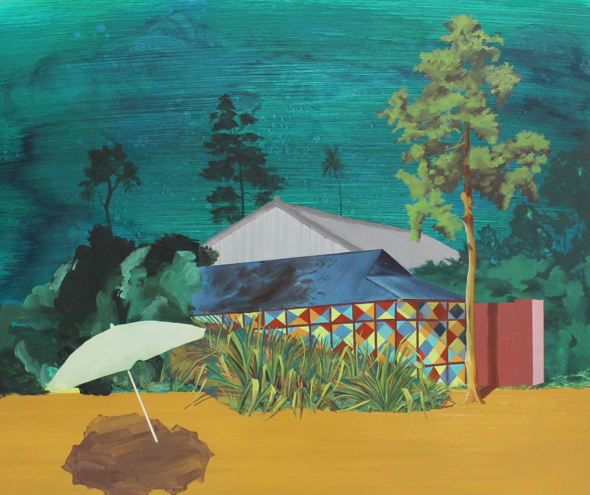 Strand, Oil on Panel, 2017, 50 x 60cm